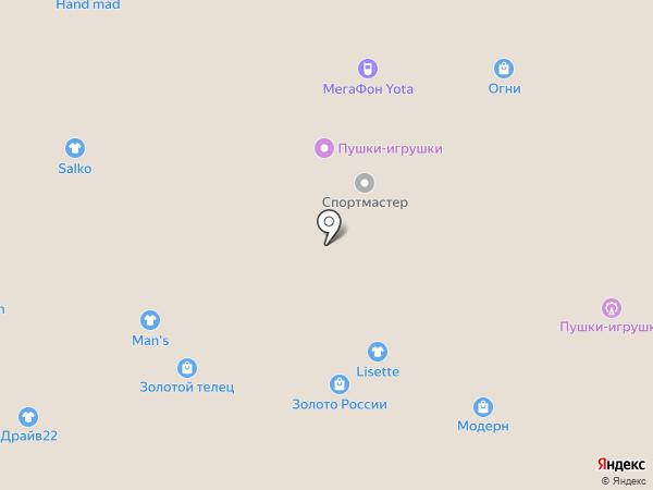 Zolla на карте Барнаула
