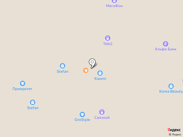 Красно Золото на карте Барнаула