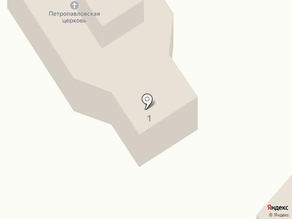 Храм святых Первоверховных апостолов Петра и Павла на карте Барнаула