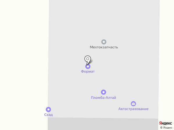 Крепость на карте Барнаула