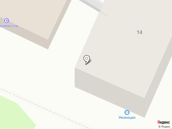 Хмельная Парковка на карте Барнаула