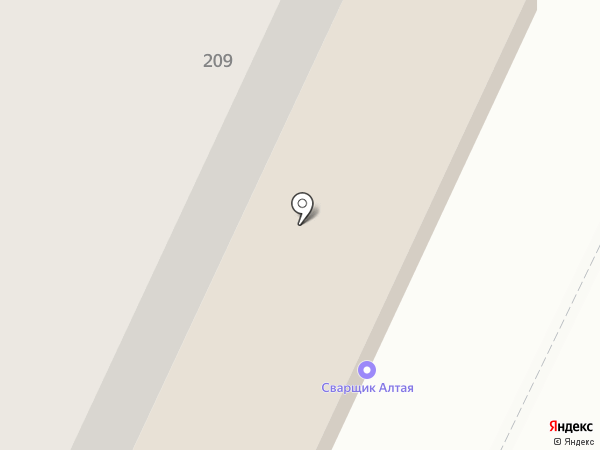 Сибтехкомплект на карте Барнаула