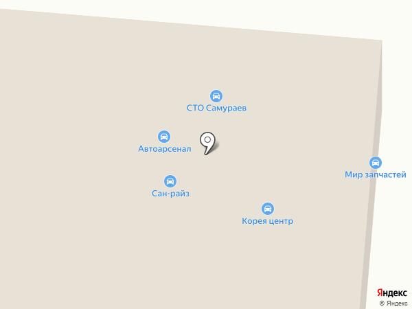 СТО Самураев на карте Барнаула