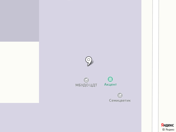 Мозаика на карте Барнаула