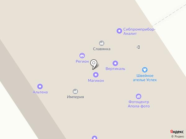 Золотой напёрсток на карте Барнаула