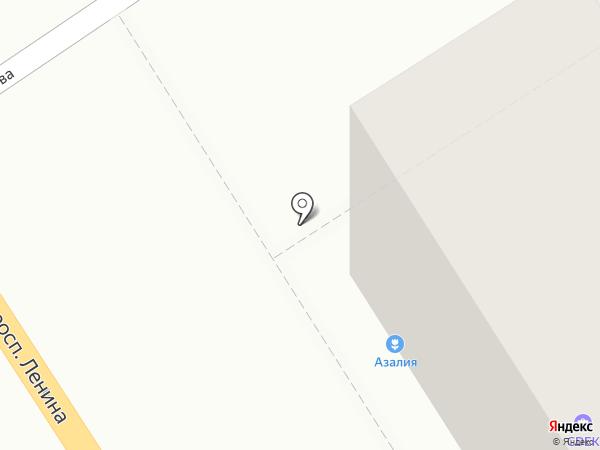 Медовый на карте Барнаула