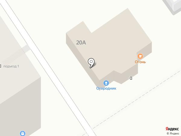 Огородник на карте Барнаула