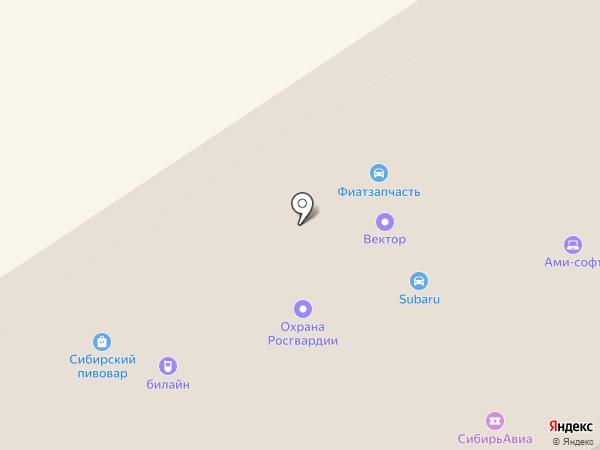 Климатерра на карте Барнаула