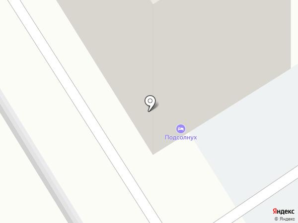 Подсолнух на карте Барнаула
