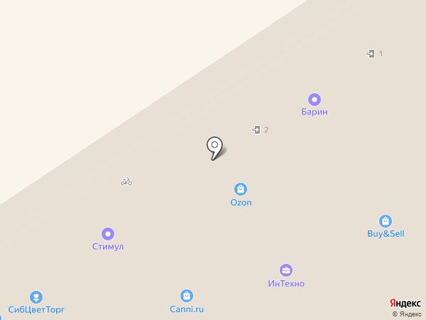 Барин на карте Барнаула