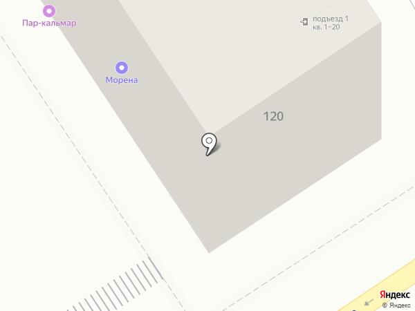 Отрез на карте Барнаула