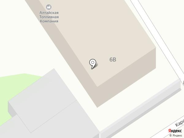 ДЕЗлиния на карте Барнаула