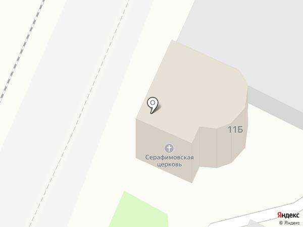 Храм преподобного Серафима Саровского на карте Барнаула