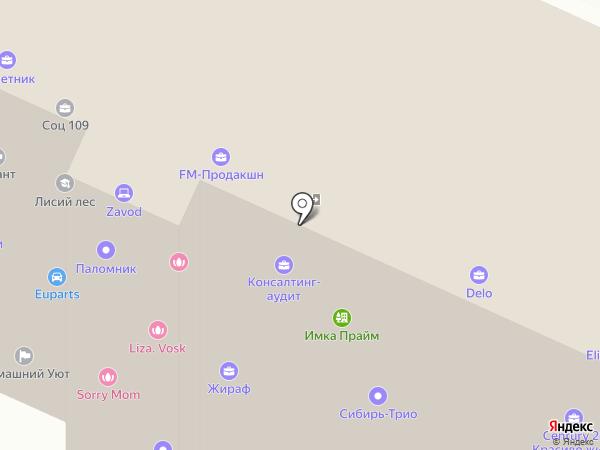 Борнеманн на карте Барнаула