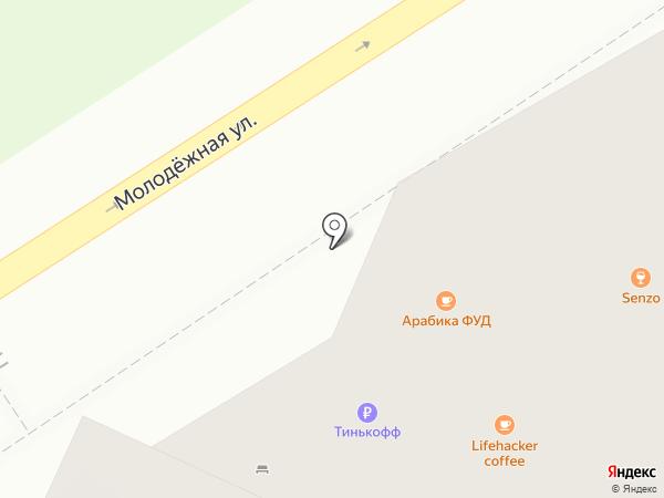 Мята на карте Барнаула