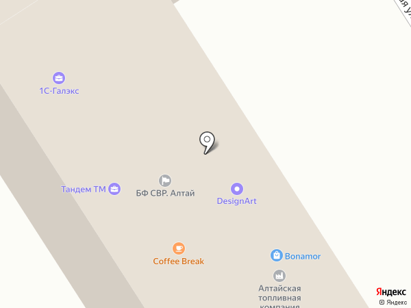 Алтайская топливная компания на карте Барнаула
