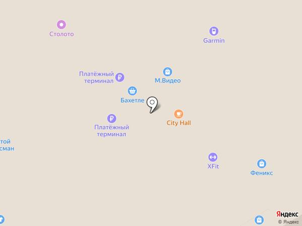 Остров подарков на карте Барнаула