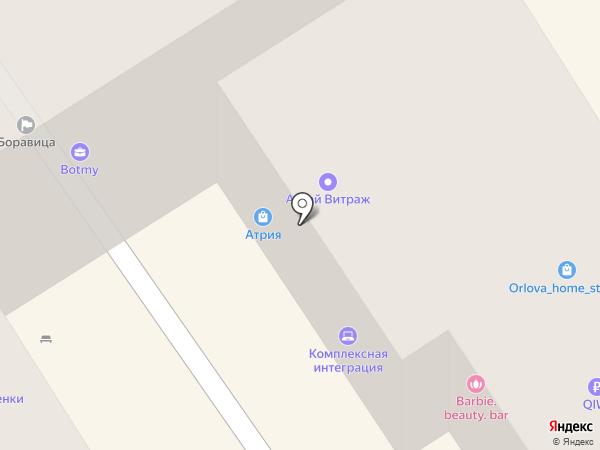 Альцион на карте Барнаула