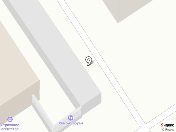 Киоск по ремонту обуви на карте Барнаула