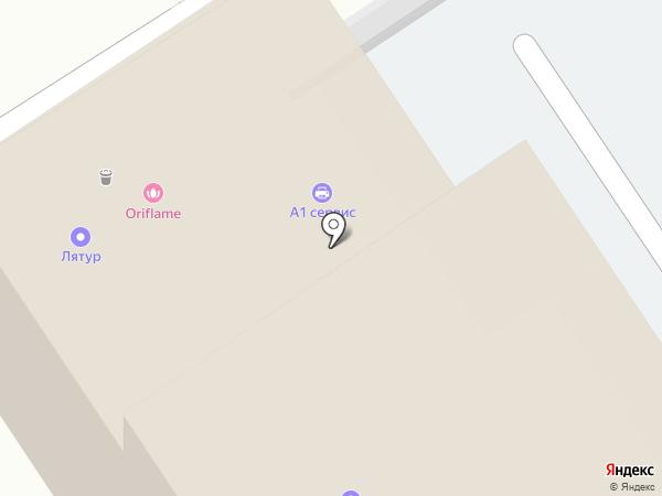 Регистр на карте Барнаула