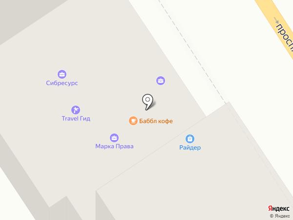 Парк здоровья на карте Барнаула