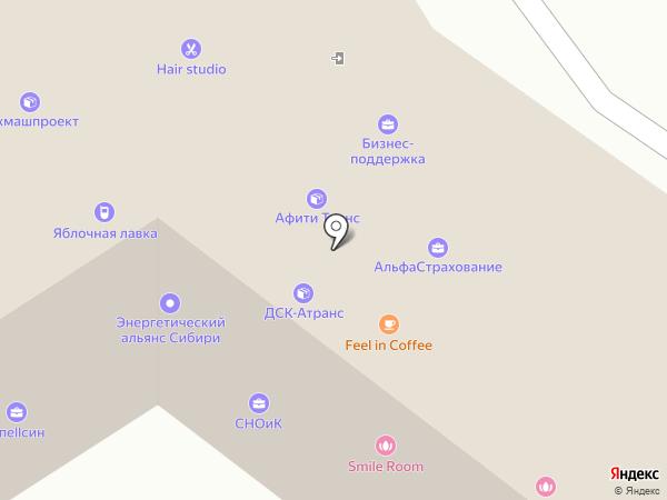Сокол Алтая на карте Барнаула