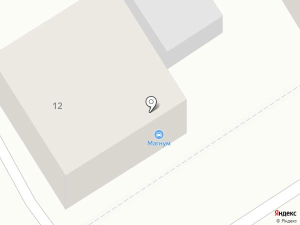 Магнум на карте Барнаула