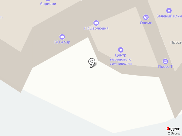 Алтайская торгово-промышленная палата, НО на карте Барнаула