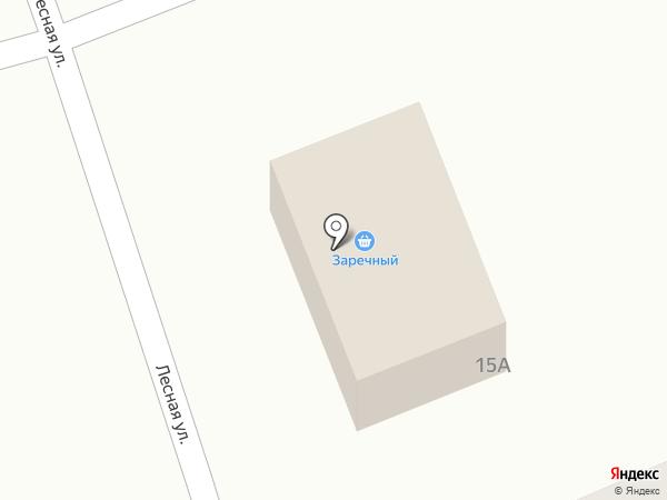 Заречный на карте Бобровки