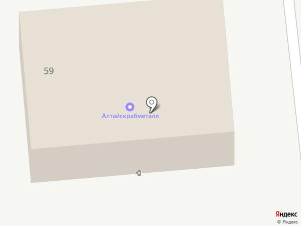 АвтоКолонна-22 на карте Новоалтайска