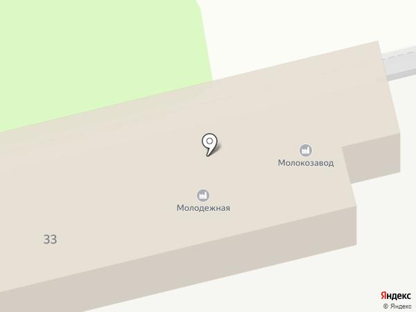 Птицефабрика Молодежная на карте Новоалтайска