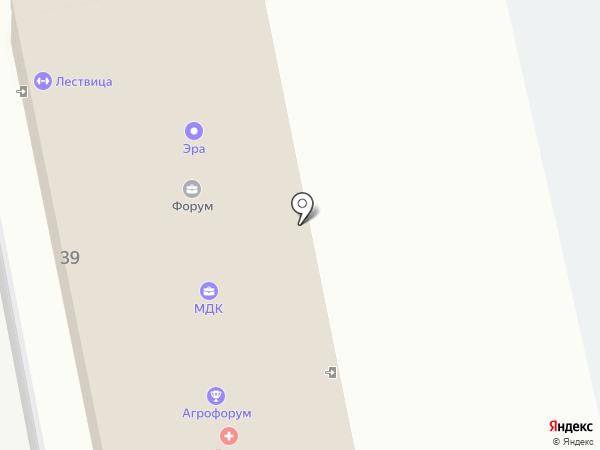 Лествица на карте Новоалтайска