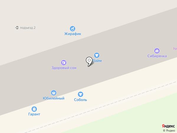 Соболь на карте Новоалтайска