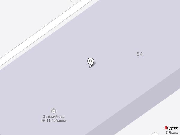 Детский сад №11 на карте Новоалтайска