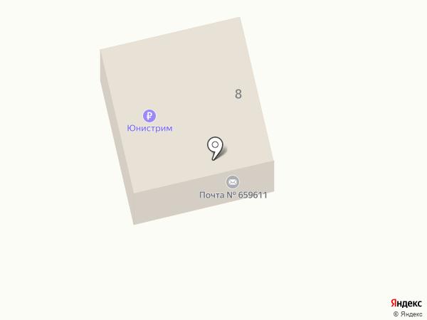 Почтовое отделение на карте Ануйского