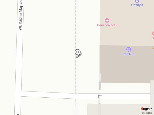Строганина на карте Томска