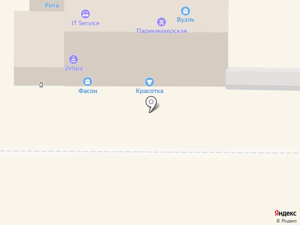 Красотка на карте Томска