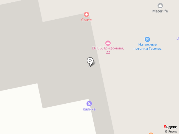 Калина на карте Томска