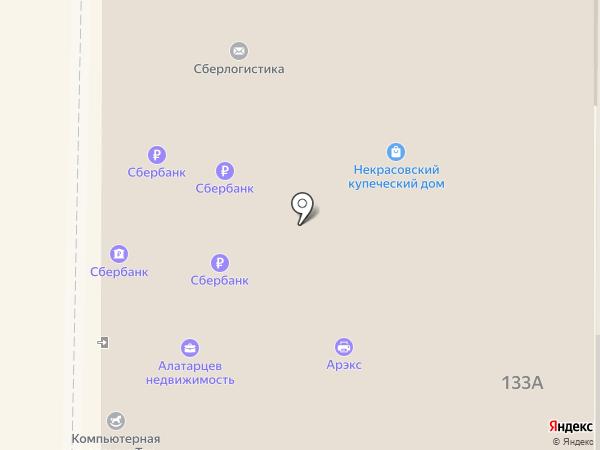 Банкомат, БАНК УРАЛСИБ на карте Томска