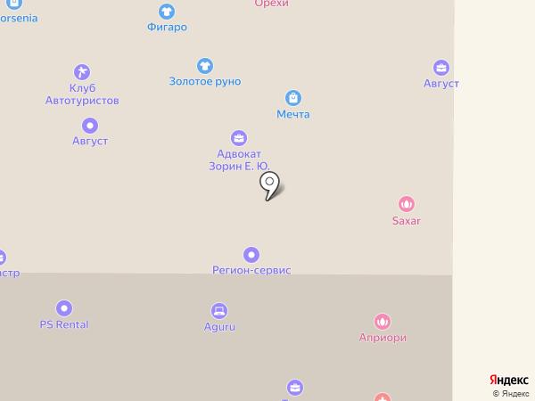 Активная база на карте Томска