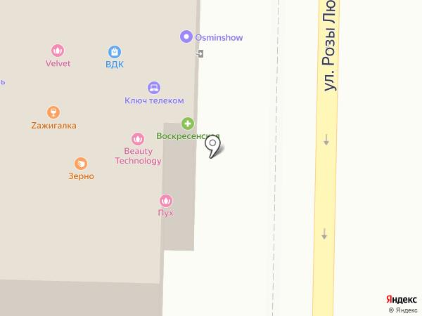 Космолайн на карте Томска