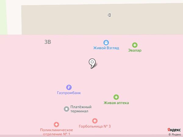 Городская клиническая больница №3 им. Б.И. Альперовича на карте Томска