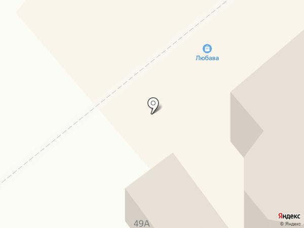 Любава на карте Белокурихи