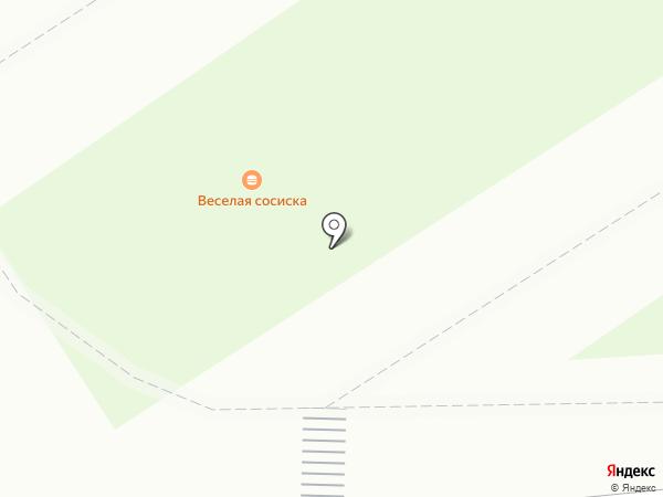 Веселая сосиска на карте Томска
