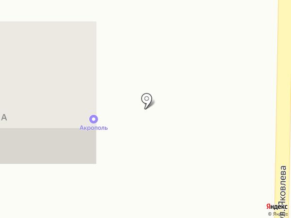 Акрополь на карте Томска