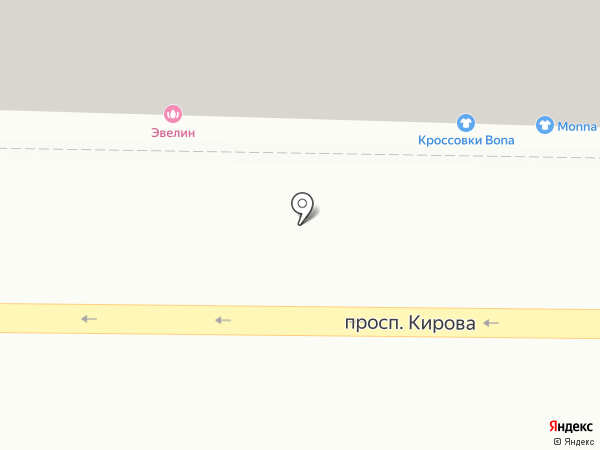 Аптека от склада на карте Томска
