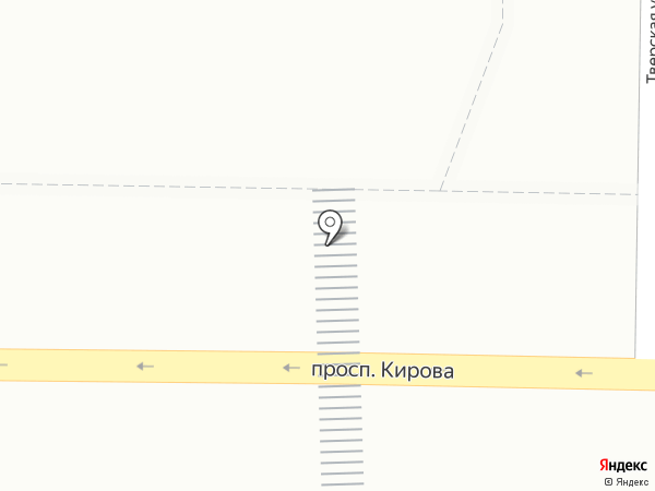 Киоск по продаже мороженого на карте Томска