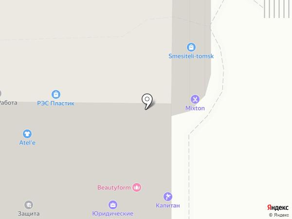 Астрон на карте Томска