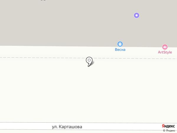 Весна на карте Томска