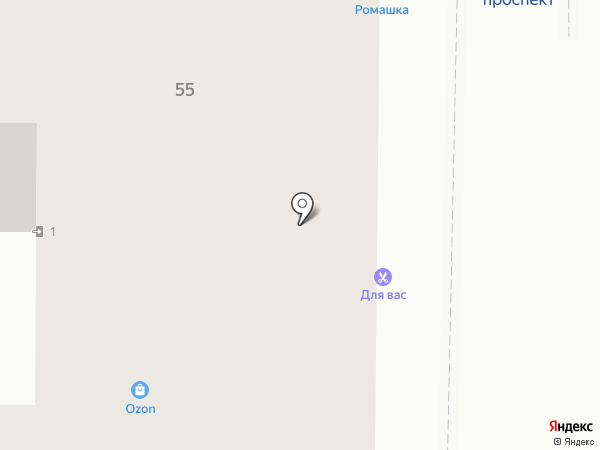 Магазин продуктов на карте Томска
